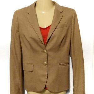 J Crew tan camel schoolboy blazer